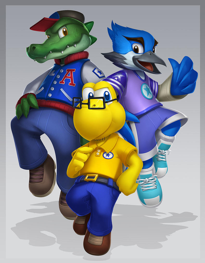 Blooper, Louie, and Allen by VegaColors