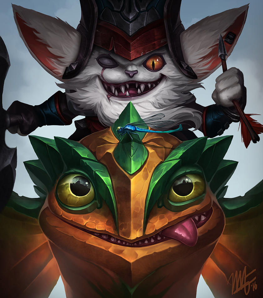 Kled and Skaarl by VegaColors