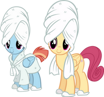 Windy Whistles and Mrs. Shy in the Spa by IronM17
