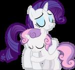 Sweetie Belle Hugs Rarity