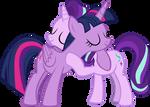 Starlight Hugs Twilight by IronM17
