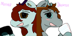 Mother Daughter Icons (remade) by MistyMidnights