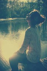 lake and girl by xparadisex