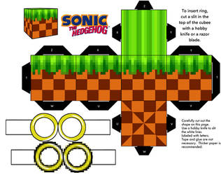 Sonic Green Hill Zone Classic Ground Block by mikeyplater