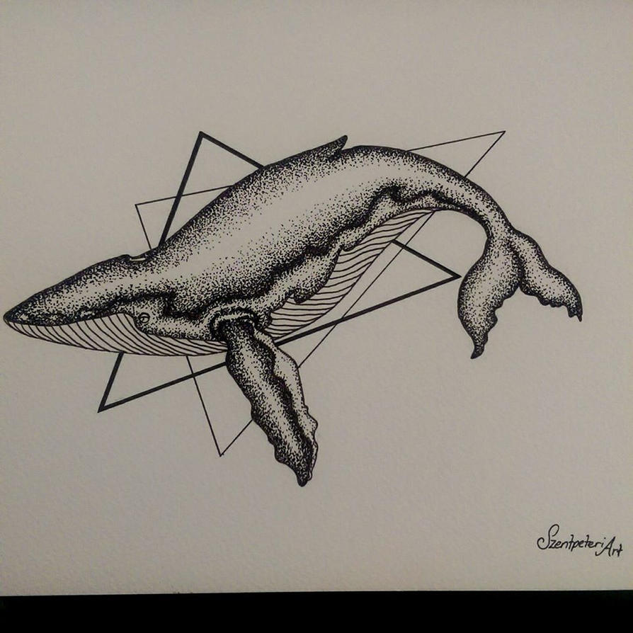 Willy the whale, more dot work! by Bianca-Szentpeteri