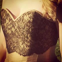 Black and gold corset by 8BluePumpkin8