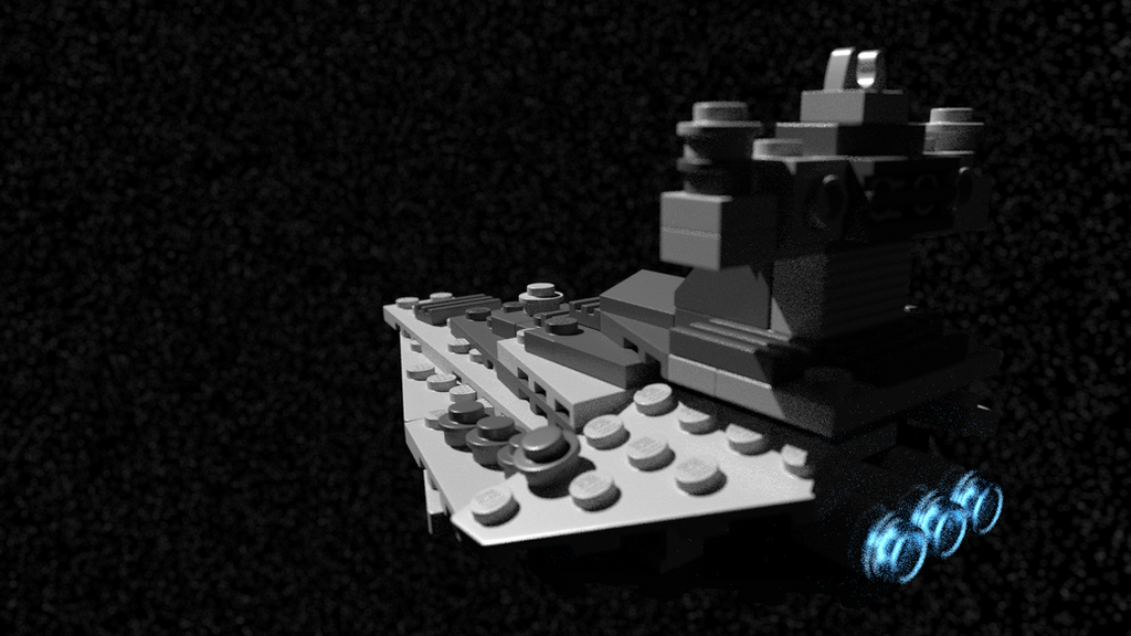 LEGO Star Destroyer in space by Walruserine