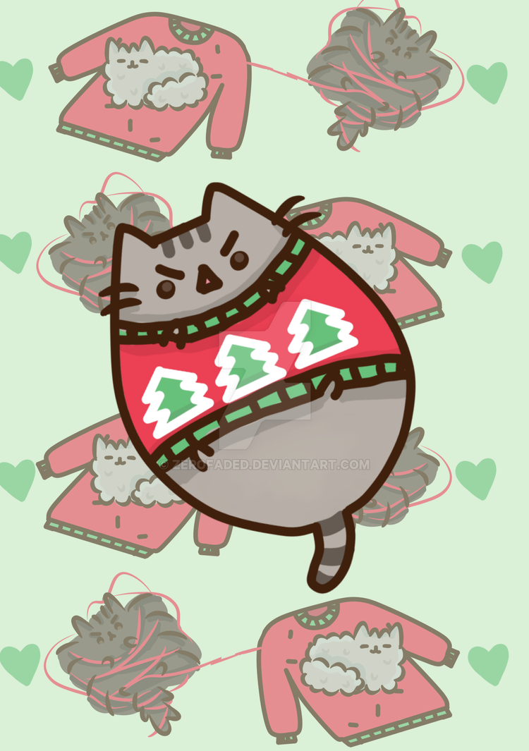 Advent Calendar **Day 2** Grumpy Pusheen Sweater By ZeroFaded ...