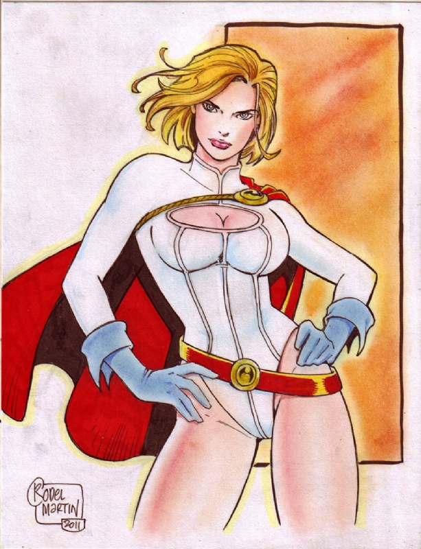 Powergirl (#1) by Rodel Martin by VMIFerrari