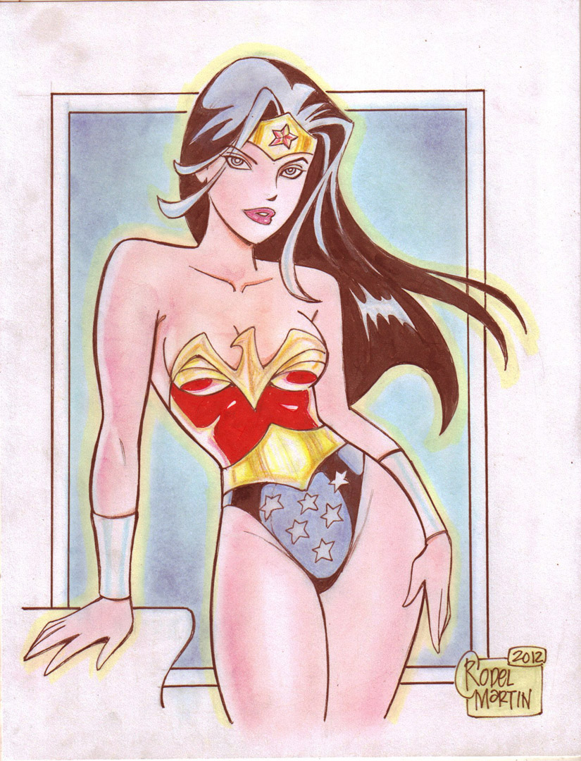'Cartoon' Wonder Woman (#1) by Rodel Martin by VMIFerrari