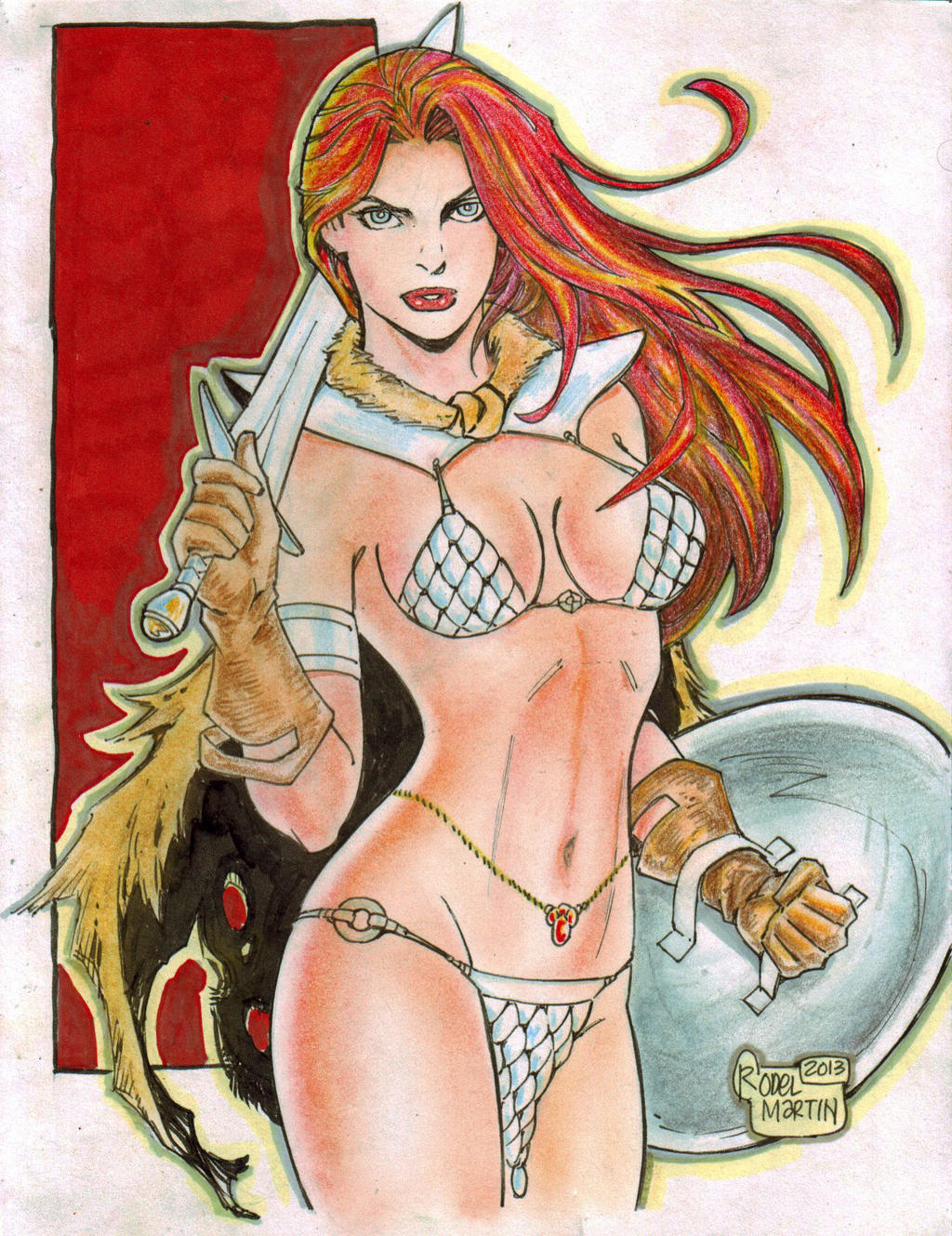 Red Sonja (#7) by Rodel Martin by VMIFerrari