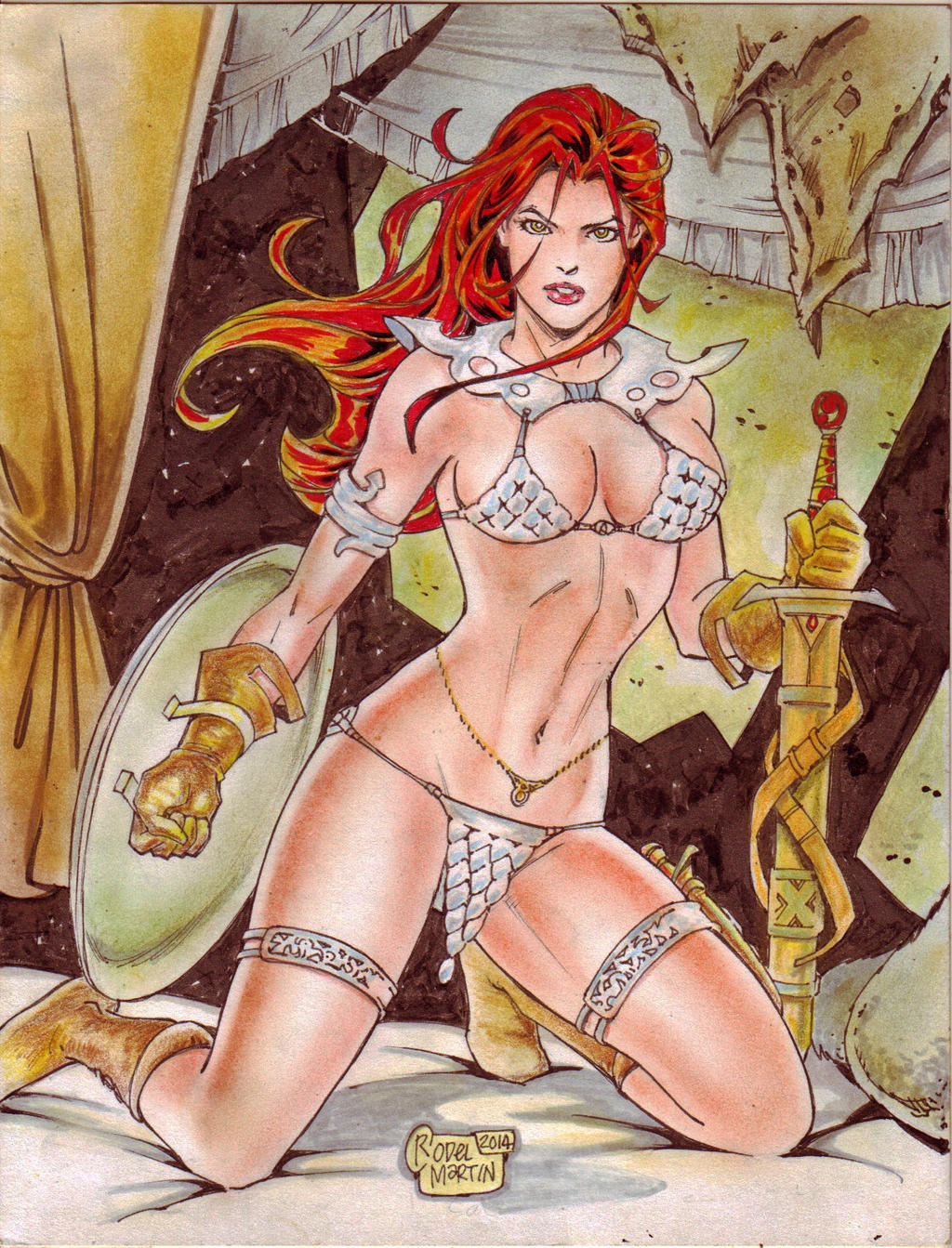 Red Sonja (#24) by Rodel Martin by VMIFerrari