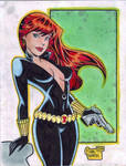 'Cartoon' Black Widow (#2) by Rodel Martin