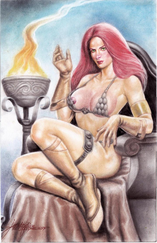 Red Sonja (#24) -NUDE- by J.D. Felipe by VMIFerrari