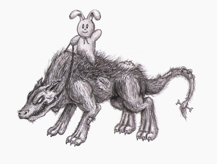 Warg Rider by Fastitocalon on DeviantArt Warg Riders Drawings