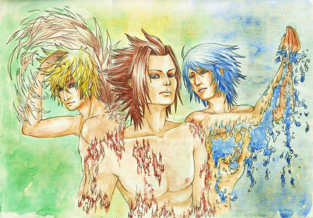 Ventus Terra Aqua - KH BBS by Murdersushi