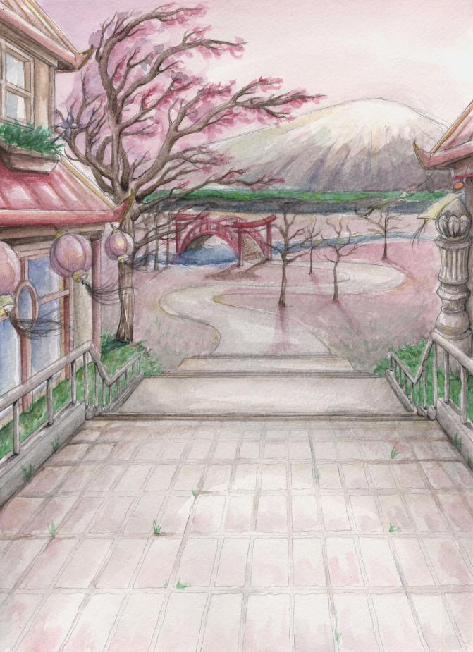 Japanese Landscape by Murdersushi