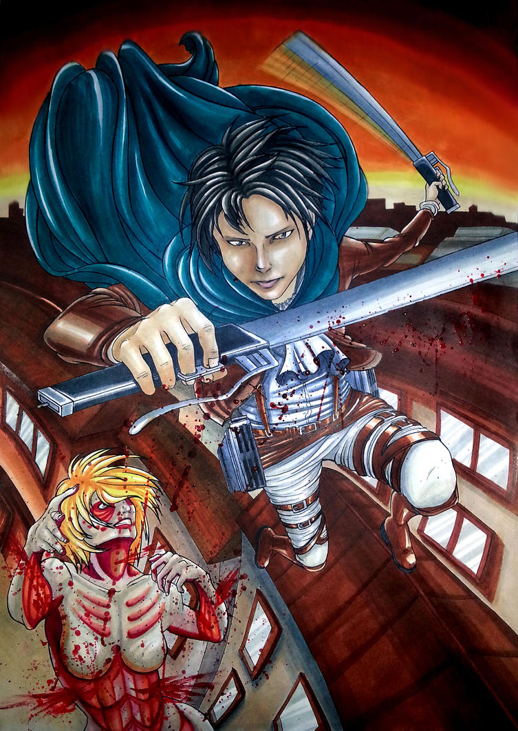 Levi vs Annie by Murdersushi