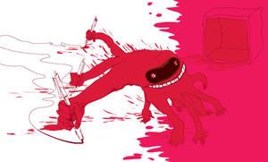 poor red animal by kuniklo