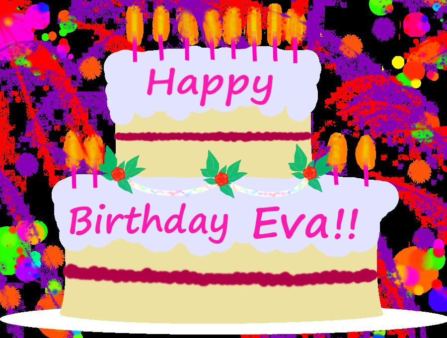 Happy Birthday Eva Cake