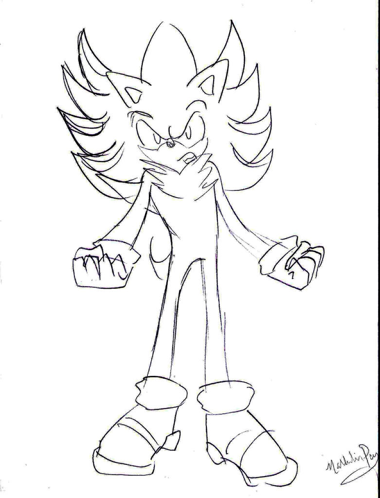 Hyper Sonic The Hedgehog Coloring