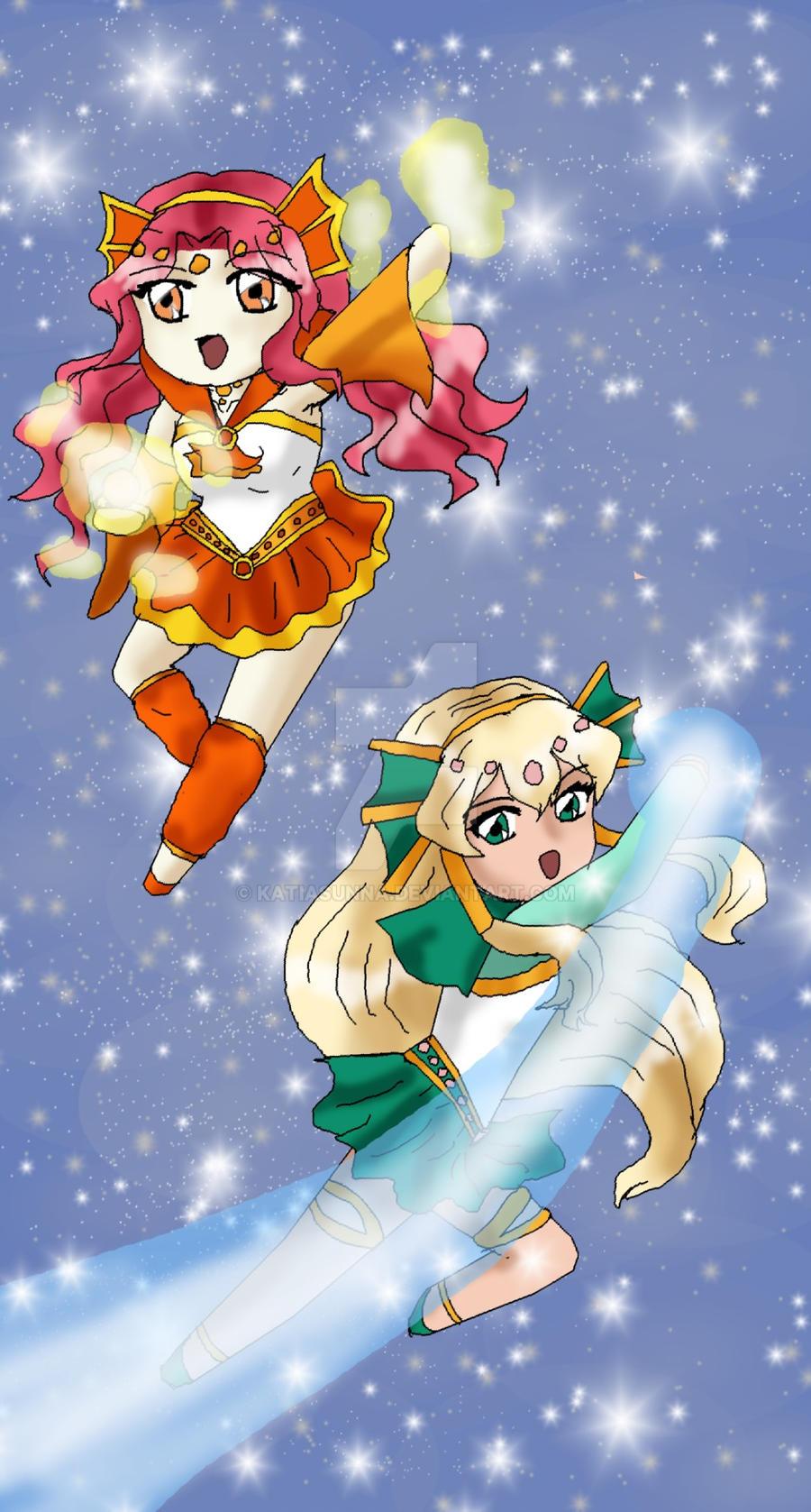 G: Koi and Kingyo Chibi Attack by SolarMiko