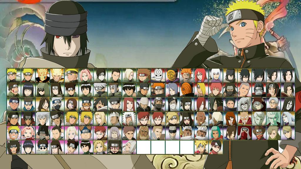 Naruto Shippuden: Ultimate Ninja Storm 4 Roster by MasaruUchiha on