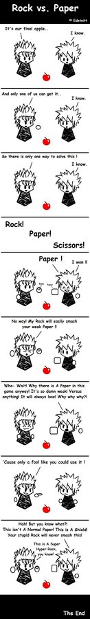 KH - Rock vs. Paper - comic by kh-fanaticclub