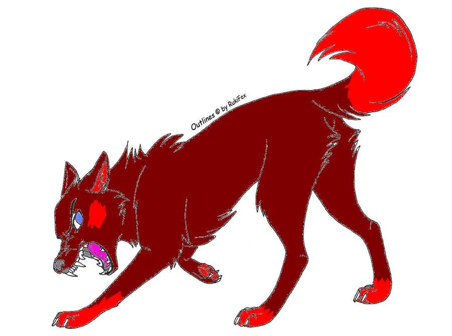 anime red wolf by jessiecom on deviantart
