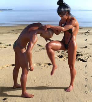 Femalepower beachfight
