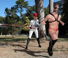 Baroness is lunging her slave by Louferrox