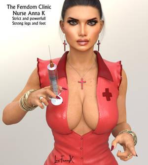 Nurse Anna K from The Femdom clinic