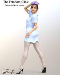 Zabina Nurse Student Femdom Clinic