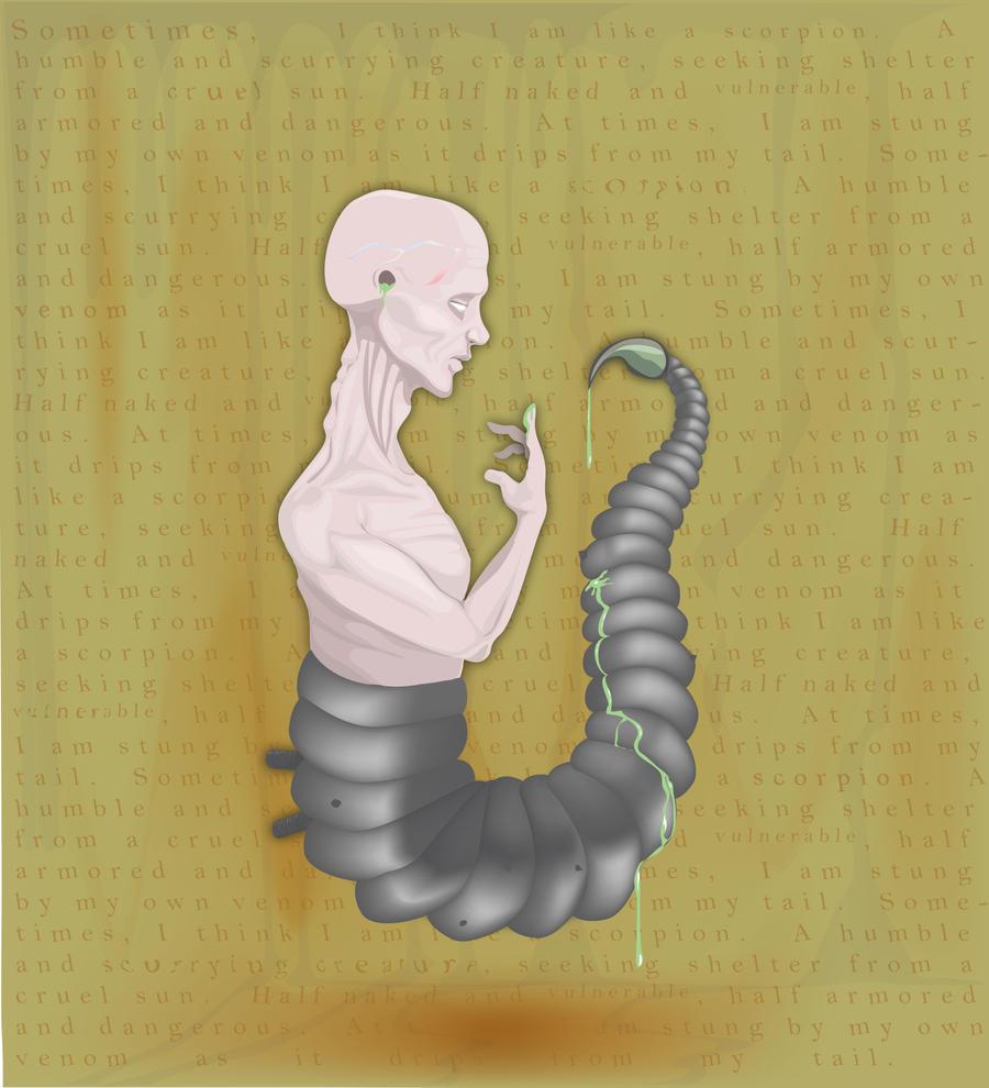 Scorpion Man by misterunlucky