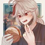 Kazuha Eating Lunch