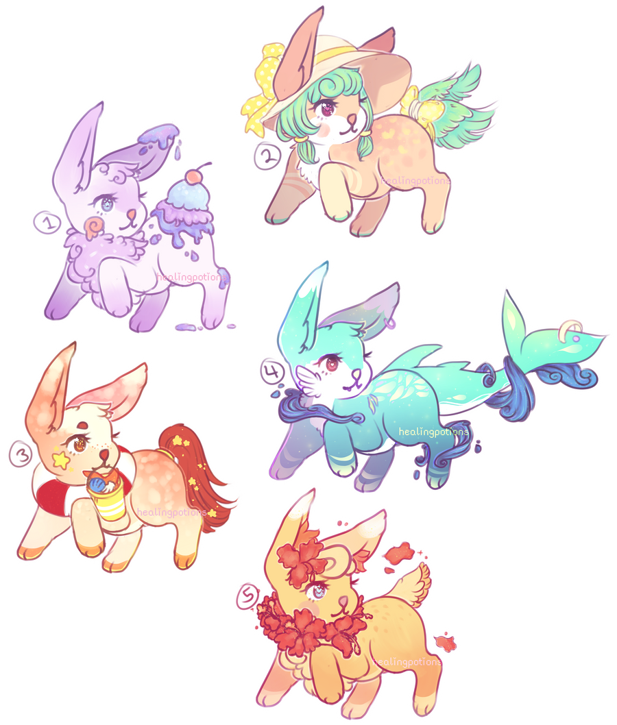 summer floofs auction~! (closed) by healingpotions