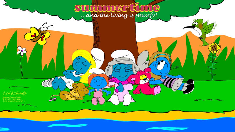 Summertime, and the Living is Smurfy by NewportMuse