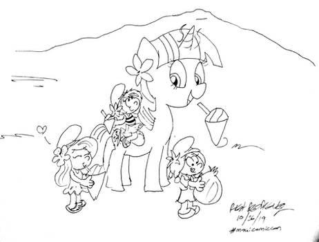 Twilight Sparkle and the Smurfs on Maui