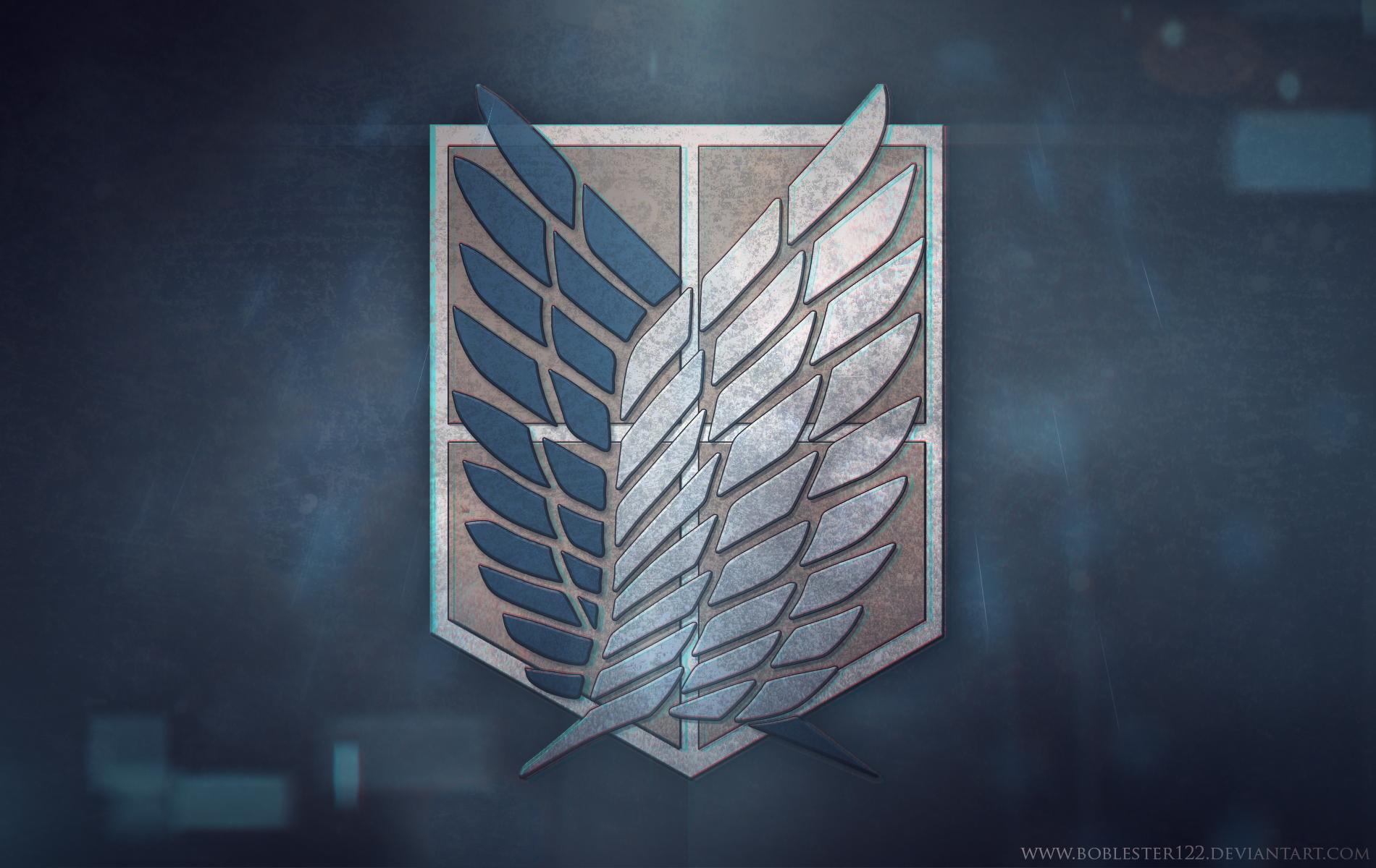 Shingeki no Kyojin : Survey Corps Badge Wallpaper by ...
