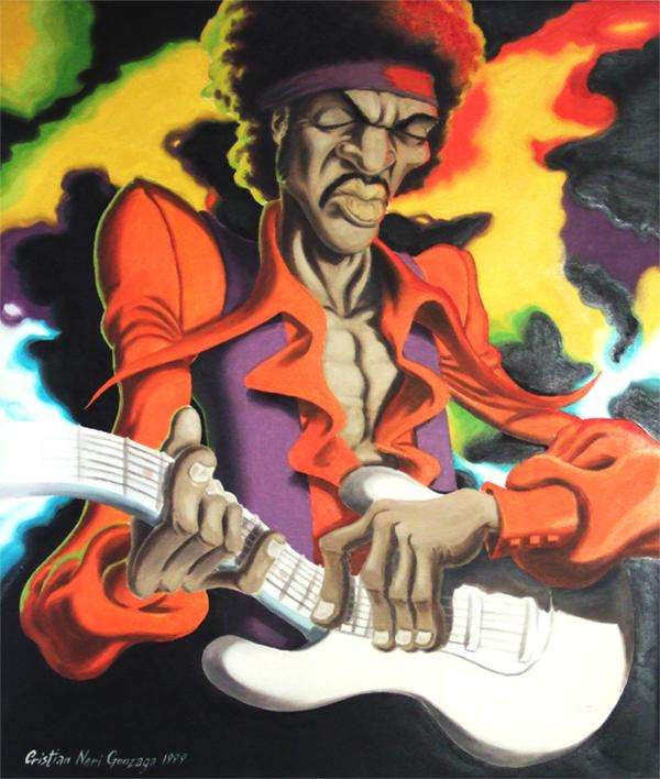 Jimi Hendrix by Wo-LF