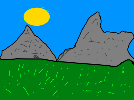 Banff Alberta Mountains ( sort of) in paint.net