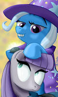 Guess who was hiding behind Maud's ear
