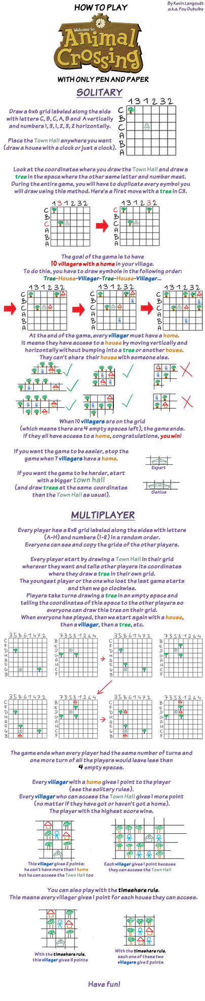 How to play Animal Crossing with pen and paper