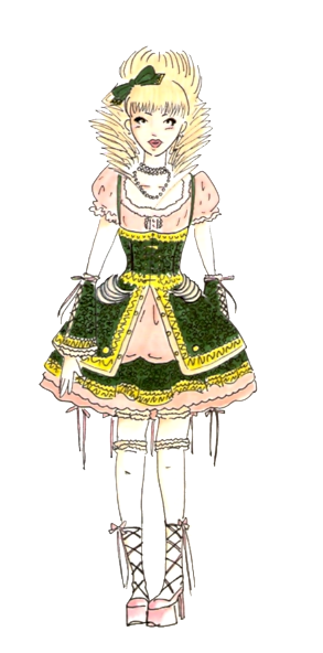 Cream and Green Hime Lolita by VanityElric