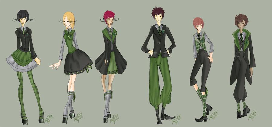 slytherin lolita kodona uniforms by vanityelric on deviantart
