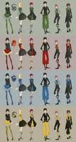 Hogwarts Lolita and Kodona Uniforms