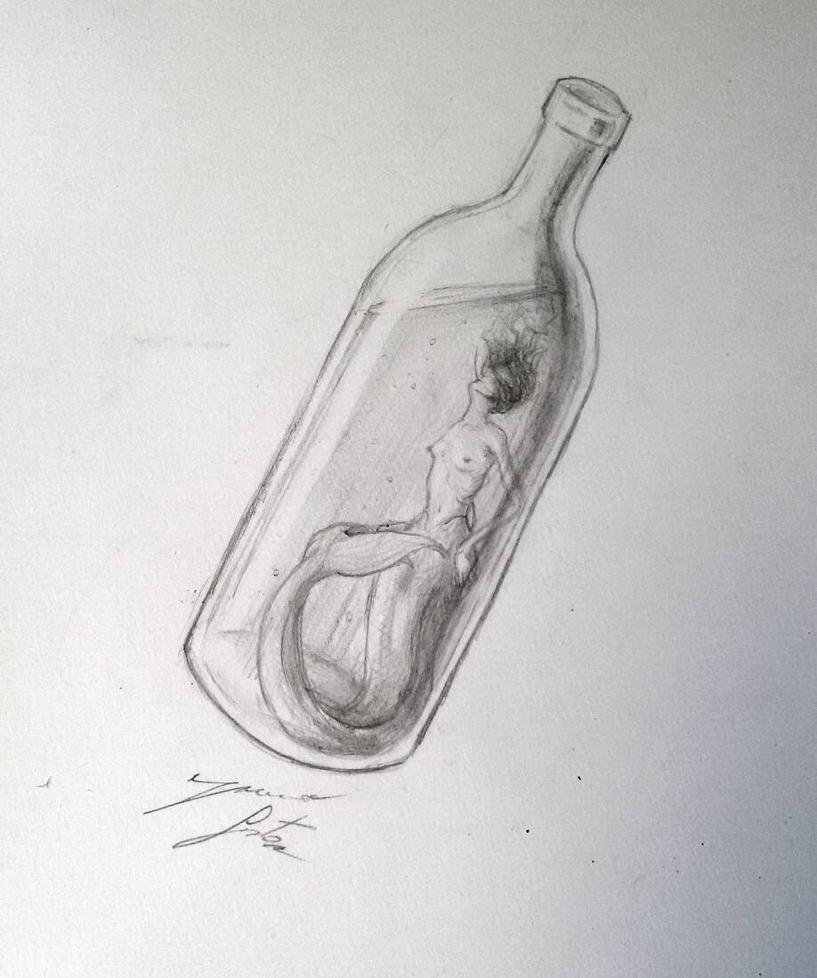 Claustrophobic Mermaid by PaperSaurus