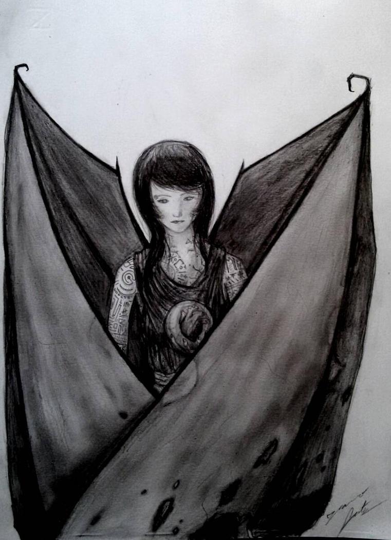 Fallen Angel by PaperSaurus
