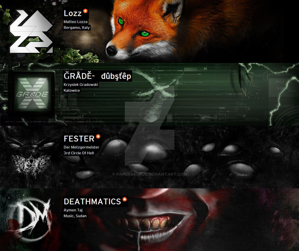 SoundCloud Banners 02 by PaperSaurus