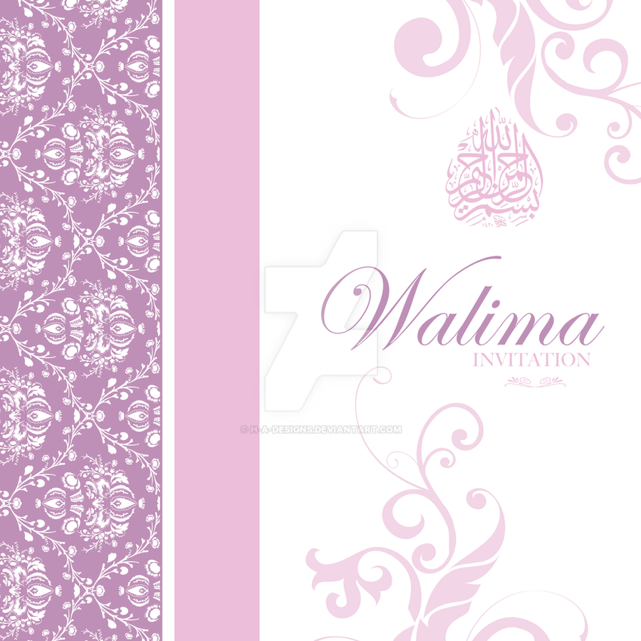 Walima Invitation Card by HAdesigns on DeviantArt – Walima Invitation Card